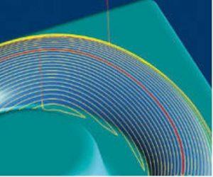 Dokončování ekvidistantní vzdáleností od vodící křivky