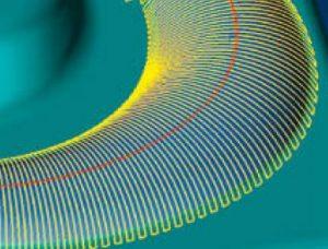 Dokončování kolmo k vodící křivce