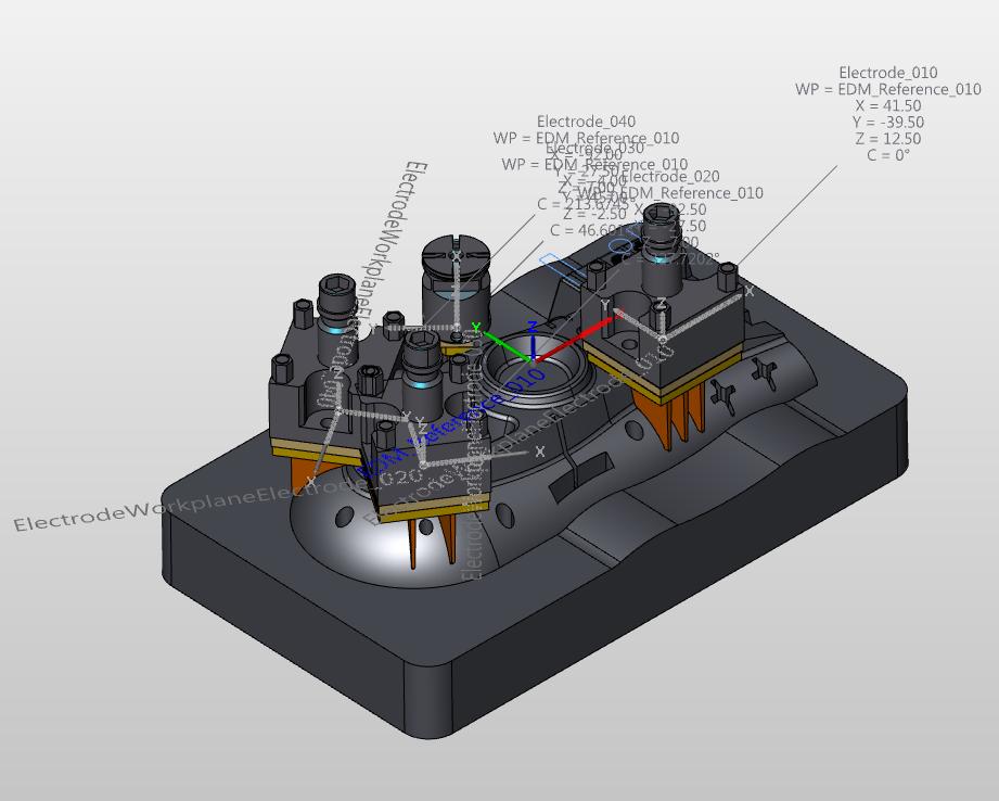 Výroba elektrod - modul hyperCAD®-S Electrode