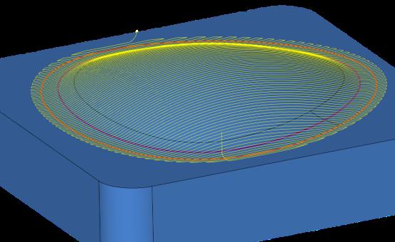 3D dokončení profilu s přesahem