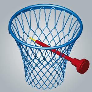 Model basketbalového koše